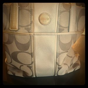 Coach carry all in signature canvas